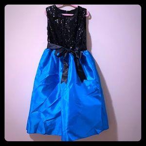 Girls size 8 blue on bottom & black sequins on top